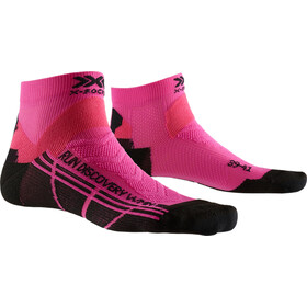 X-Socks Run Discovery Sokken Dames, flamingo pink/opal black
